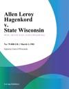 Allen Leroy Hagenkord V State Wisconsin