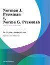 Norman J Pressman V Norma G Pressman