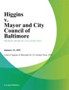 Higgins V Mayor And City Council Of Baltimore
