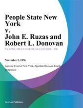 People State New York V. John E. Ruzas And Robert L. Donovan
