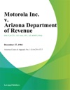Motorola Inc V Arizona Department Of Revenue