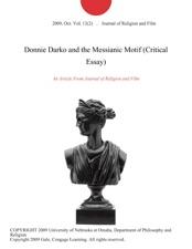 Donnie Darko And The Messianic Motif Critical Essay By Journal Of  Donnie Darko And The Messianic Motif Critical Essay