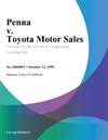 Penna V Toyota Motor Sales