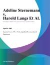 Adeline Sternemann V Harold Langs Et Al