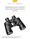Defining Italian-Americans The Ethnicity Industry And The Bicentennial Celebration 1974-1976