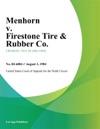 Menhorn V Firestone Tire  Rubber Co