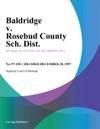 Baldridge V Rosebud County Sch Dist