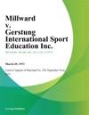 Millward V Gerstung International Sport Education Inc
