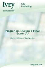 Plagiarism During A Final Exam (A)