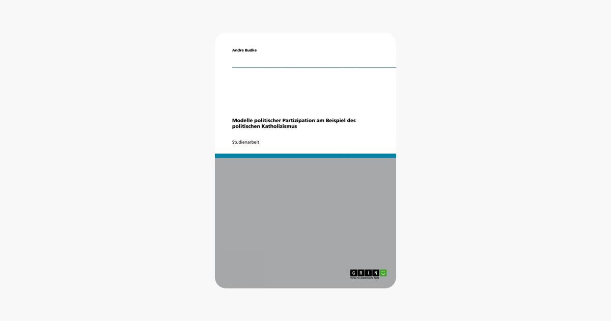 Modelle politischer Partizipation am Beispiel des politischen Katholizismus (German Edition)