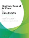 First Nat Bank Of St Elmo V United States