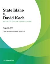 Download State Idaho v. David Koch