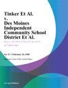 Tinker Et Al V Des Moines Independent Community School District Et Al