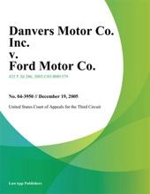 Danvers Motor Co. Inc. v. Ford Motor Co.