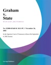 Graham V State
