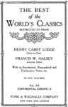 The Best Of The Worlds Classics Restricted To Prose Volume VII - Continental Europe I