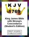 KJV 1769 King James Bible With Strongs Concordance Students Edition