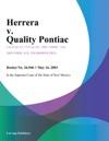 Herrera V Quality Pontiac