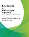 JB Bonelli V Volkswagen America