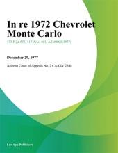 In Re 1972 Chevrolet Monte Carlo