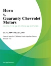 Horn V Guaranty Chevrolet Motors