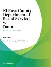 El Paso County Department Of Social Services V. Donn
