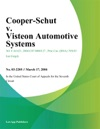 Cooper-Schut V Visteon Automotive Systems