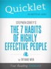 Quicklet On Stephen R. Covey's the 7 Habits of Highly Effective People