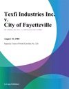 Texfi Industries Inc V City Of Fayetteville