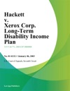 Hackett V Xerox Corp Long-Term Disability Income Plan