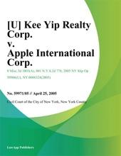 Kee Yip Realty Corp. v. Apple International Corp.