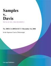 Samples V. Davis
