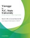 Vieregge V NC State University