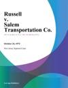 Russell V Salem Transportation Co