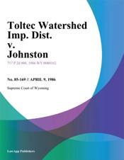 Download and Read Online Toltec Watershed Imp. Dist. v. Johnston