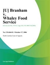 [U] Branham V. Whaley Food Service