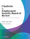 Chadwick V Employment Security Board Of Review