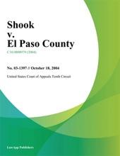Shook V. El Paso County