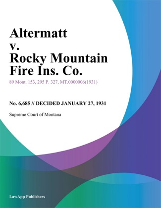 Altermatt v. Rocky Mountain Fire Ins. Co. image