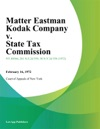 Matter Eastman Kodak Company V State Tax Commission