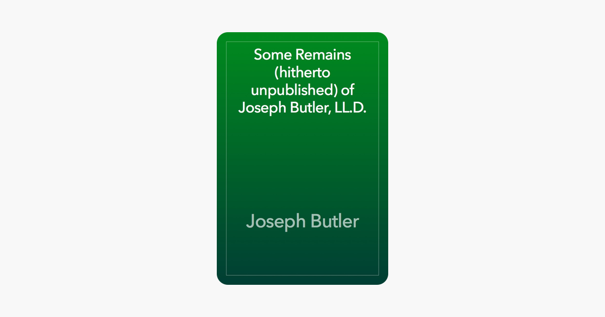 More Books by Joseph Butler