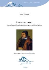 Langue Et Droit Approche Sociolinguistique Historique Et Pist Mologique
