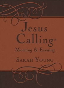 Jesus Calling Morning and Evening, with Scripture references Book Cover