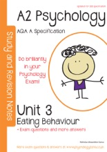 AQA (A) A2 Psychology Unit 3: Topics In Psychology – Eating Disorders With Model