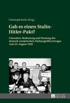 Gab Es Einen Stalin-Hitler-Pakt