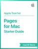 Apple Education - Pages for Mac Starter Guide macOS Sierra artwork