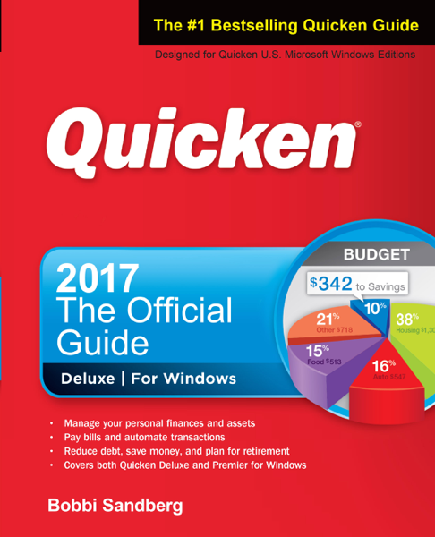 Quicken 2017 - The Official Guide