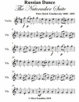 Russian Dance The Nutcracker Suite Easy Violin Sheet Music