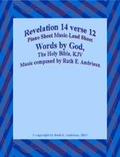 Revelation 14 verse 12, Piano Sheet Music Lead Sheet