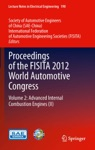 Proceedings Of The FISITA 2012 World Automotive Congress